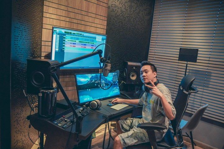 Home Studio của producer JustaTee - Thiết kế bởi ISS Acoustics
